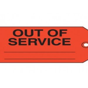 5S-OUT OF SERVICE LABEL