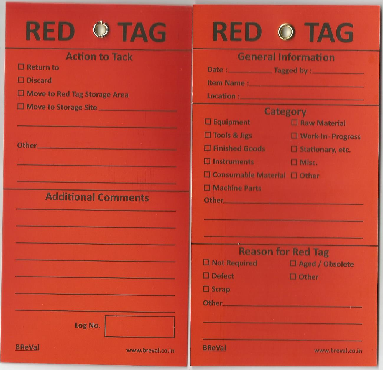 Red Tag Action Kit Available Buy Online At Breval