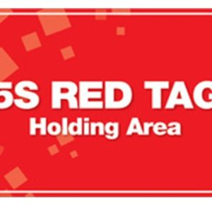 5S RED TAG HOLDING AREA POSTER
