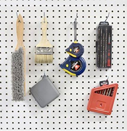 6-inch Metal Peg Board Shelving Hooks | 50-Piece Pack| www.breval.co.in