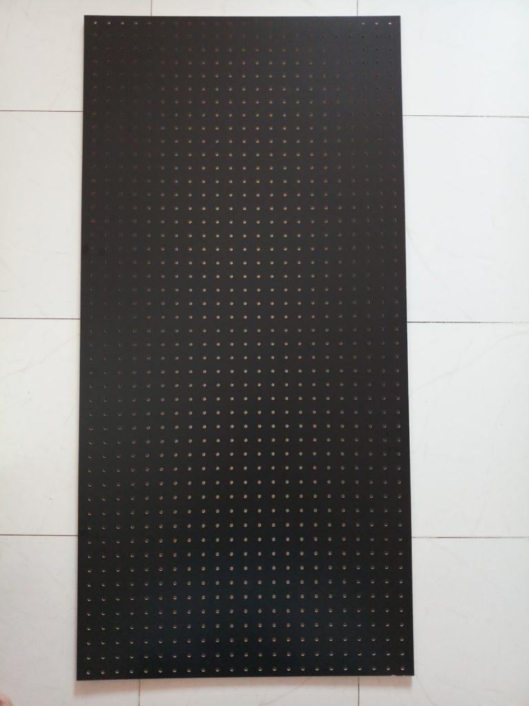Mdf Pegboard Black 5mm Thick 1220mm X 600mm