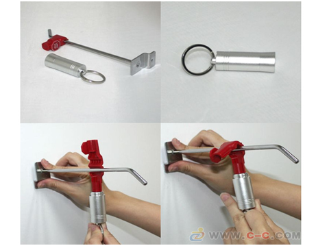 50 Anti-Theft Security 4mm Stop Lock with 1 Magnetic Detacher Key