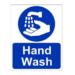 Signage, Handwash, Vinyl, Sticker, Size:A4, Hygiene- 2nos.